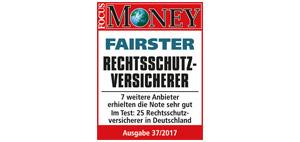 ARAG wurde von Focus Money zum fairsten Rechtsschutzversicherer gekürt
