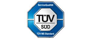 TÜV Siegel für Service-Qualität